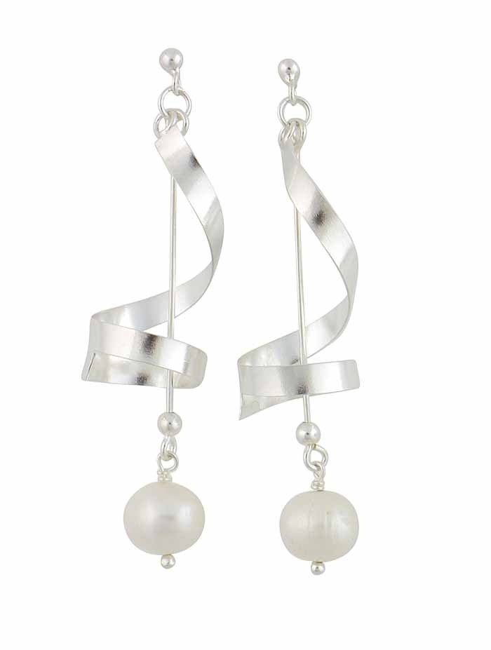 Freshwater Pearl Sterling Silver Long Drop Earrings