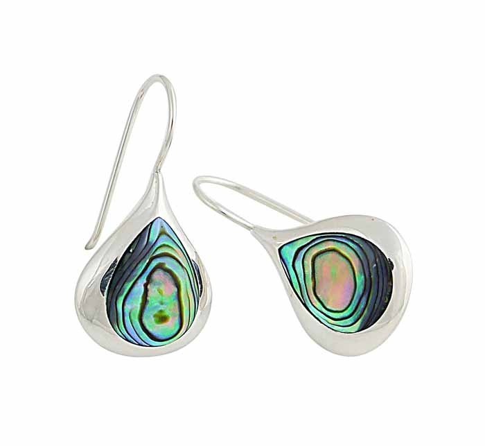 Organically Captivating Multi-Coloured Shell Teardrop Earrings