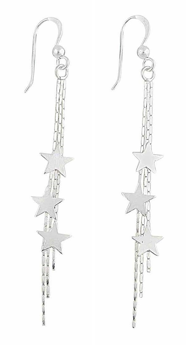 Shooting Star Long Dangle Earrings