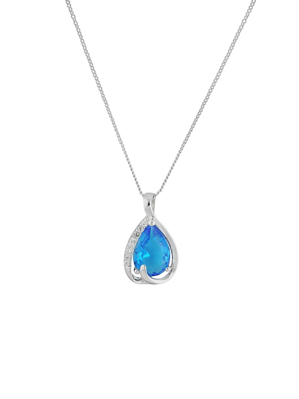 Pendant Necklace Drop Pendant Necklace with Cubic Zirconia