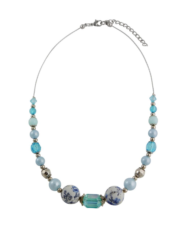 Blue Bead Fashion Necklace