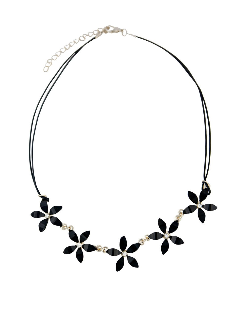 Black Flower Fashion Necklace