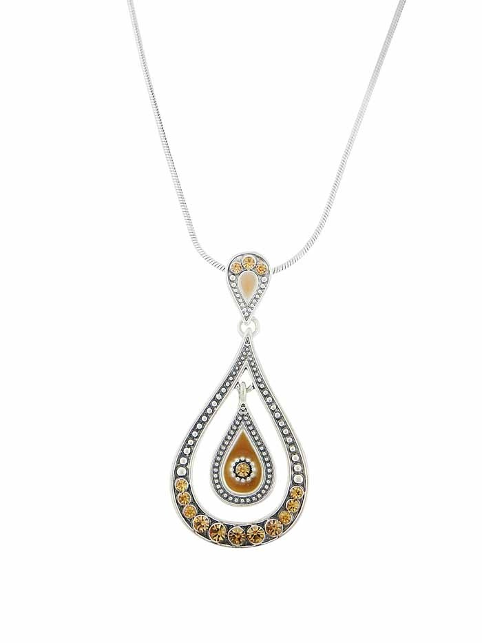 Hollow out Tear Drop Pendant Necklace
