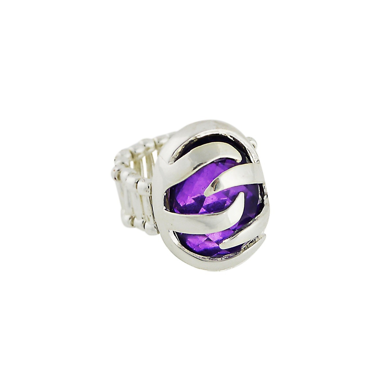 Purple Stone stretch Ring
