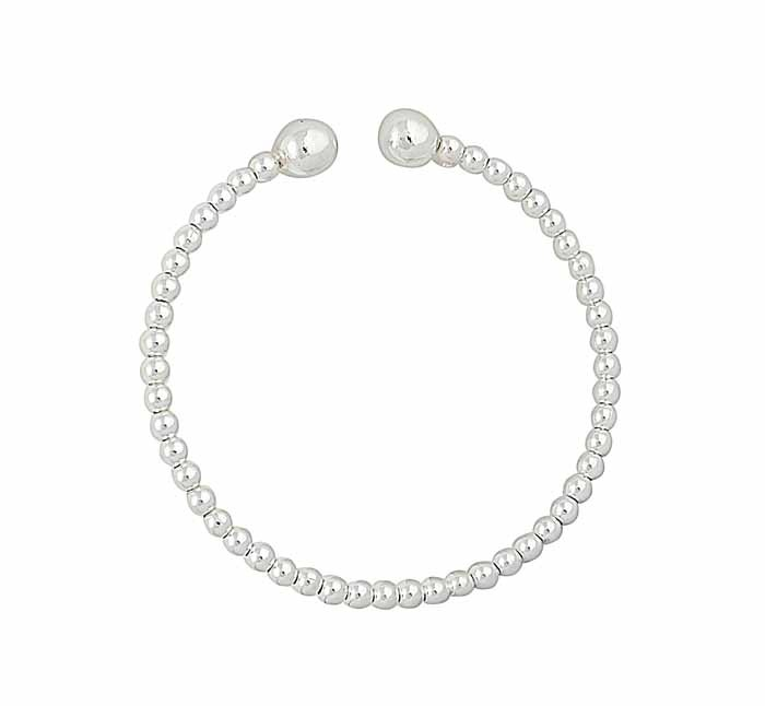 Silver Ball Tourqe Bangle
