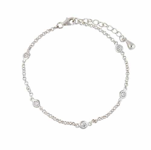 Cubic Zirconia Sterling Silver Bracelet