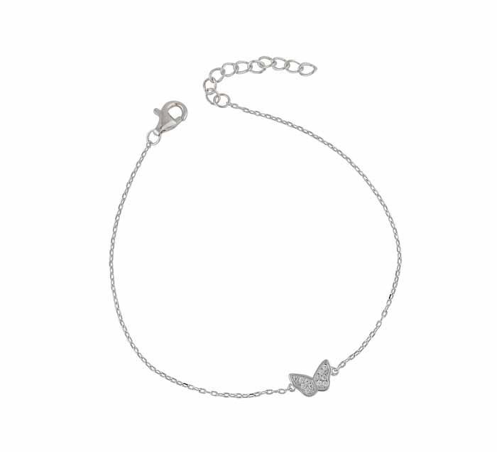 Small Butterfly Silver Bracelet