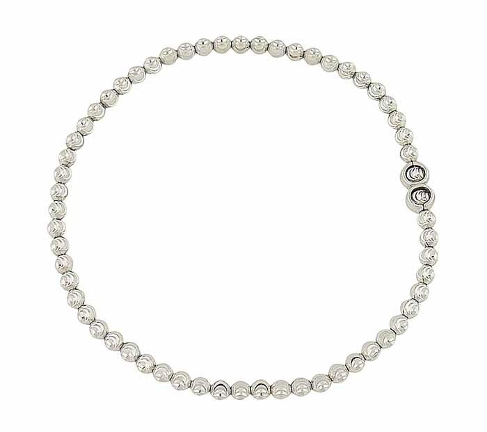 Diamond Cut Silver Ball Bracelet