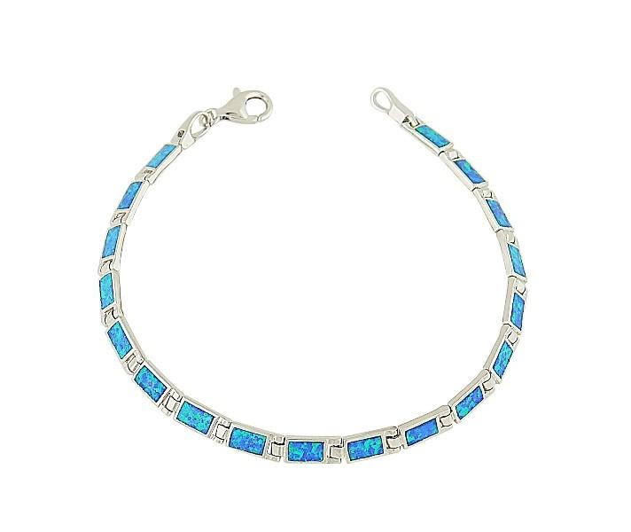 Blue Opal Rectangular Feature Bracelet