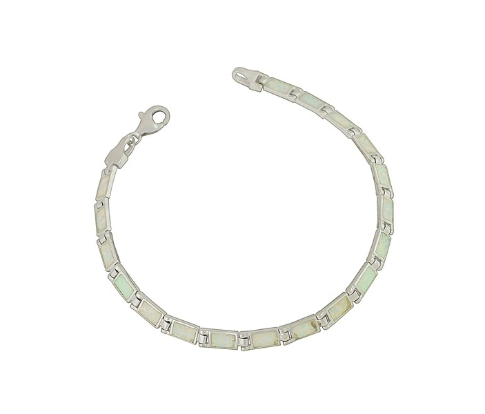 White Opal Rectangular Feature Bracelet