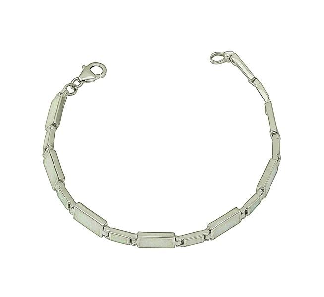White Opal Alternate Link Bracelet