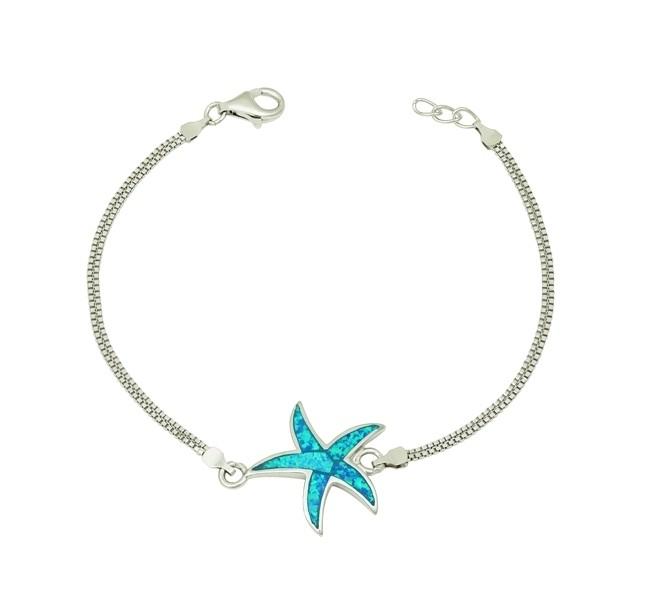 Blue Opal Starfish Bracelet