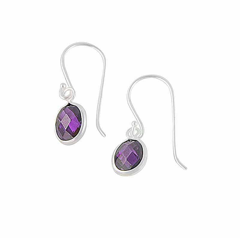Crystal Drop Sterling Silver Earrings