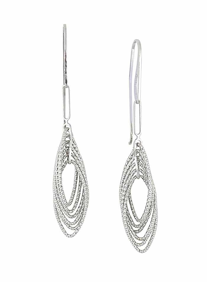 Multi Layer Long Oval Drop Earrings