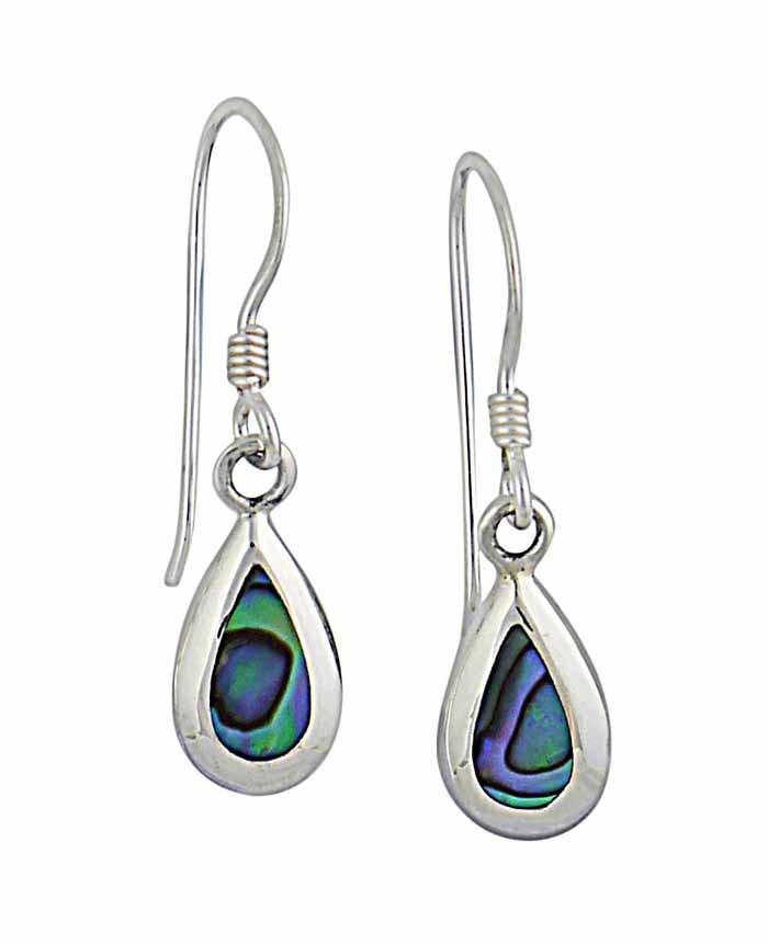 Small Abalone Teardrop Earrings