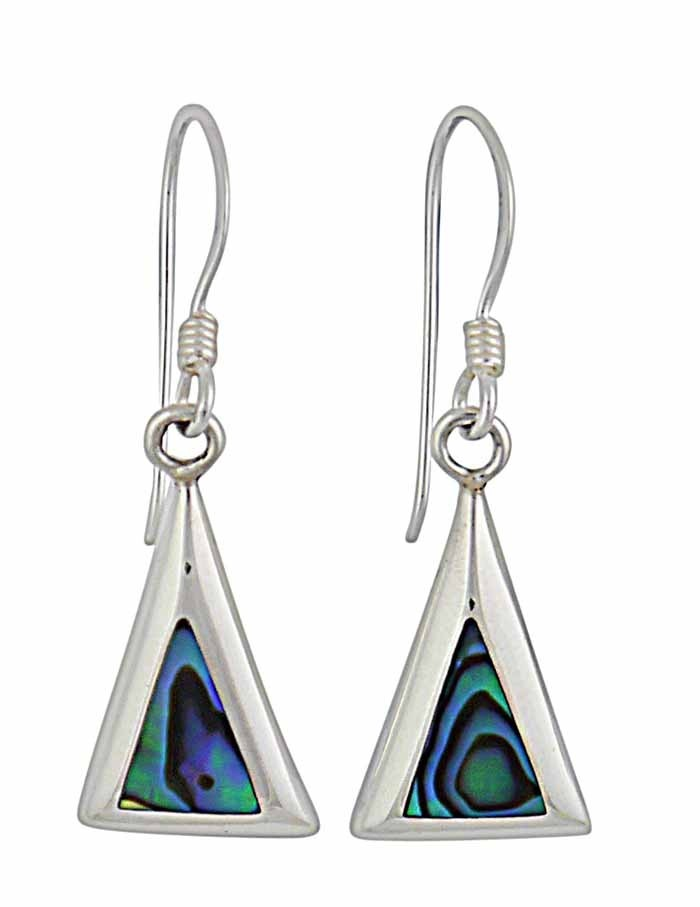Abalone Triangular Small Earrings