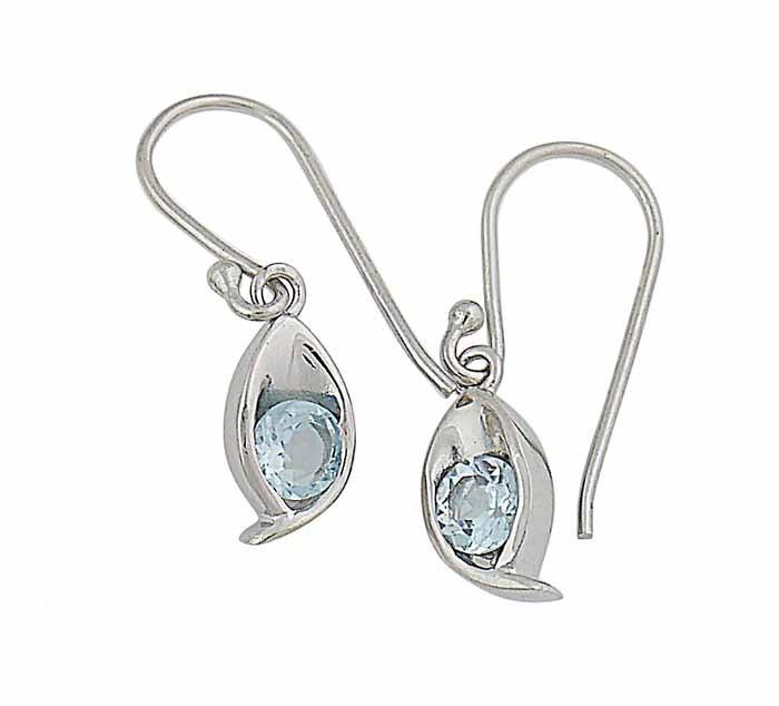 Blue Topaz Small Drop Earrings | The Opal