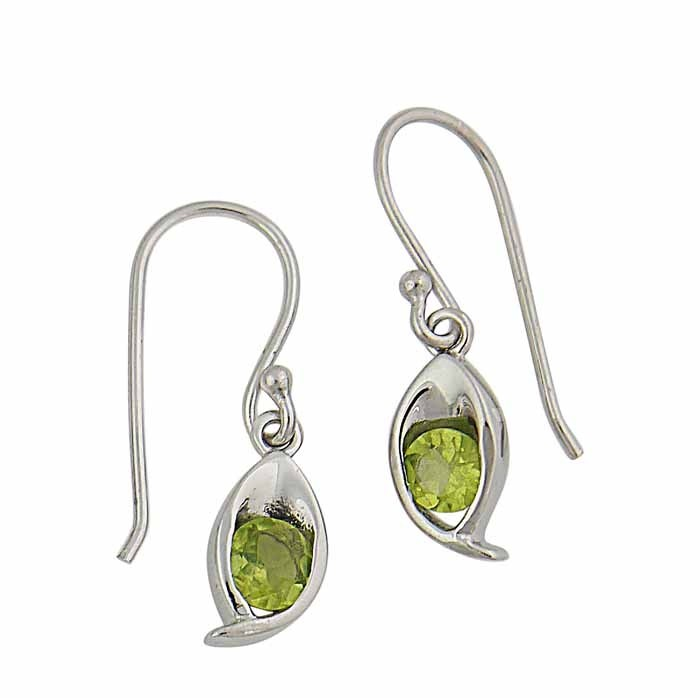 Peridot Small Drop Earrings | The Opal