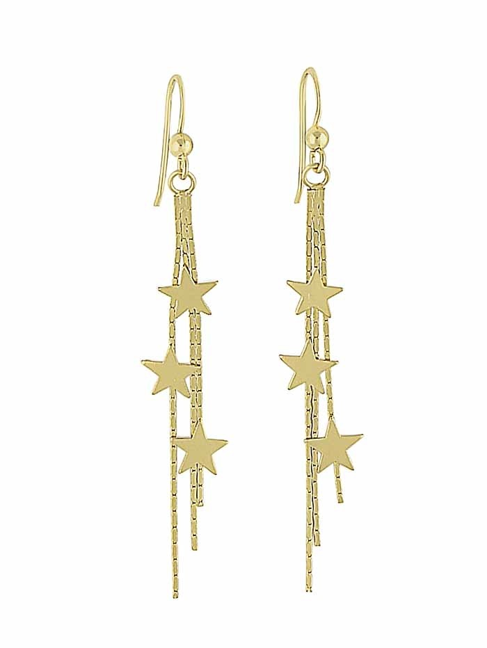 good looking super cheap the best attitude 18k Gold Plated Shooting Star Long Dangle Earrings | The Opal ...