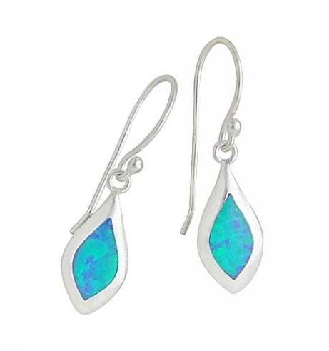 Small Marquise Blue Opal Drop Earrings