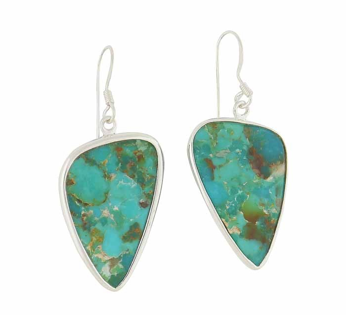 Plectrum Turquoise Silver Earrings