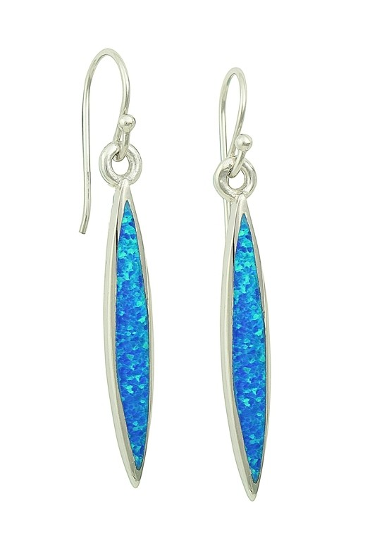 Blue Opal Slither Long Earrings