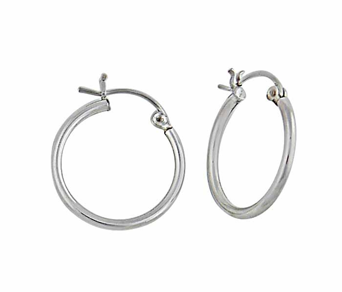 25mm Plain Silver Hoop Earrings