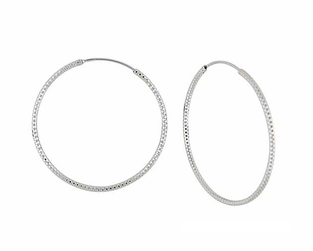 Extra Large Silver Hoop Earrings - 52mm | The Opal