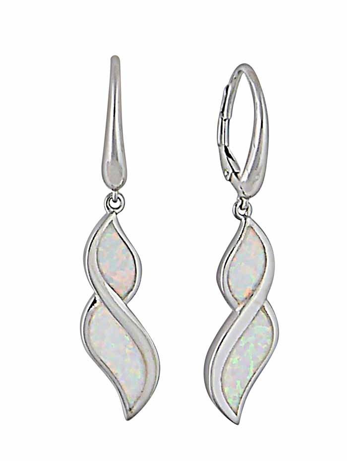 Figure of Eight Opal Hoop Earrings | The Opal