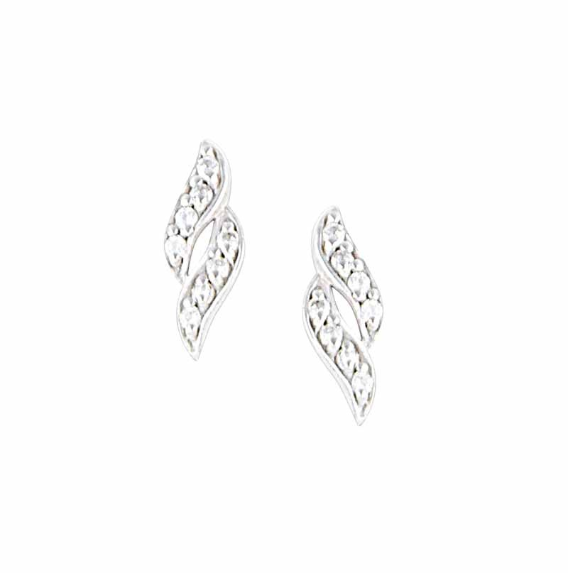 Twisted Silver Stud Earrings