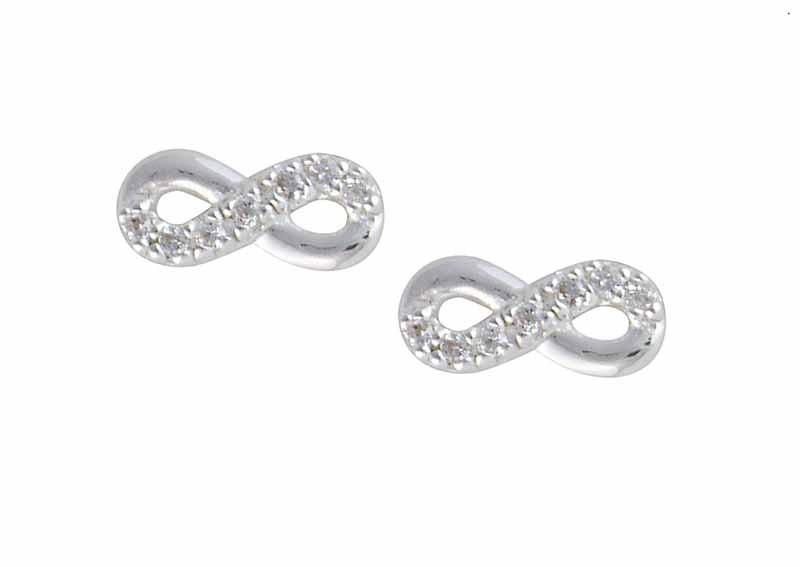 Crystal infinity earrings