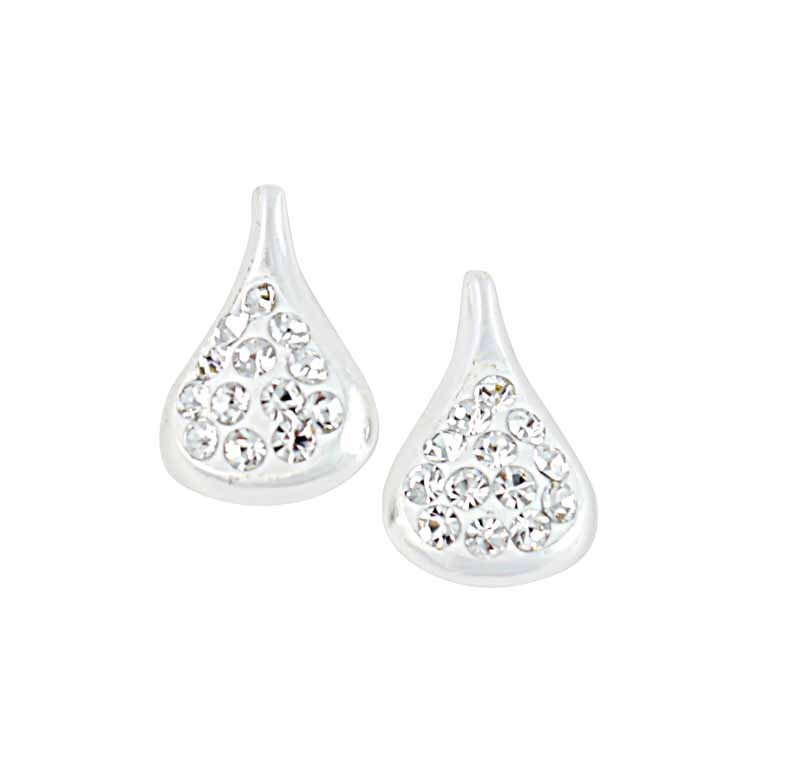 Crystal Drop Shape Stud Earrings