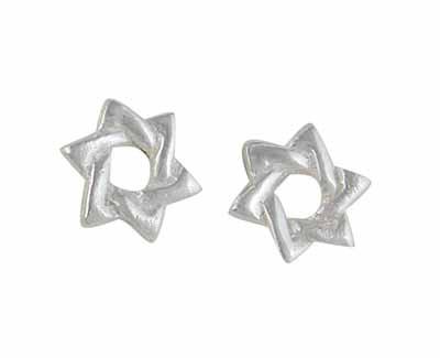 Star of David Sterling Silver Earrings
