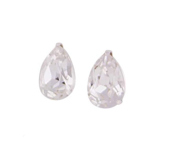 f099e8bdf Teardrop Swarovski Crystal Small Stud Earrings | The Opal