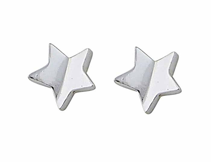 Small Star Silver Stud Earrings