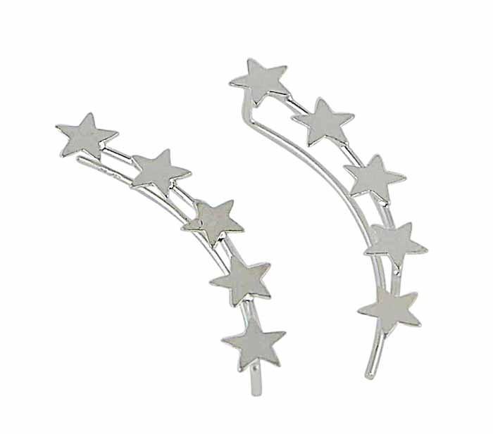 Silver Star Ear Climber | The Opal