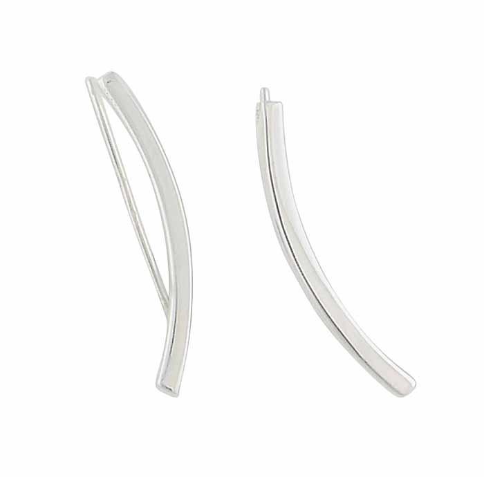 25mm Silver Climber Earrings