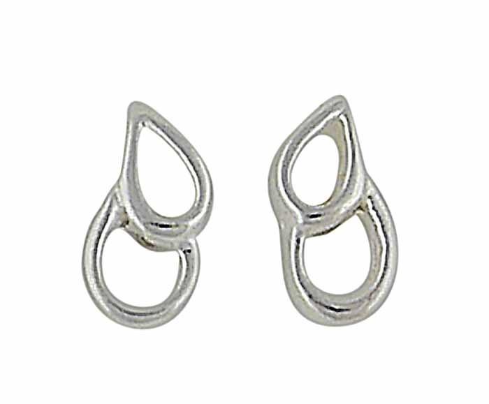 Twin Open Teardrop Silver Earrigs   The Opal Jewellery