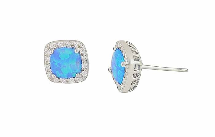 Blue Opal Regality Stud Earrings