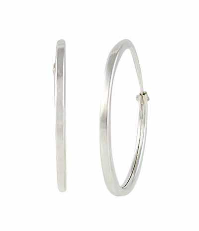 plain silver hoop earrings – 25mm