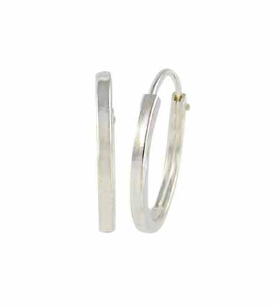 simple silver hoop earrings – 16mm