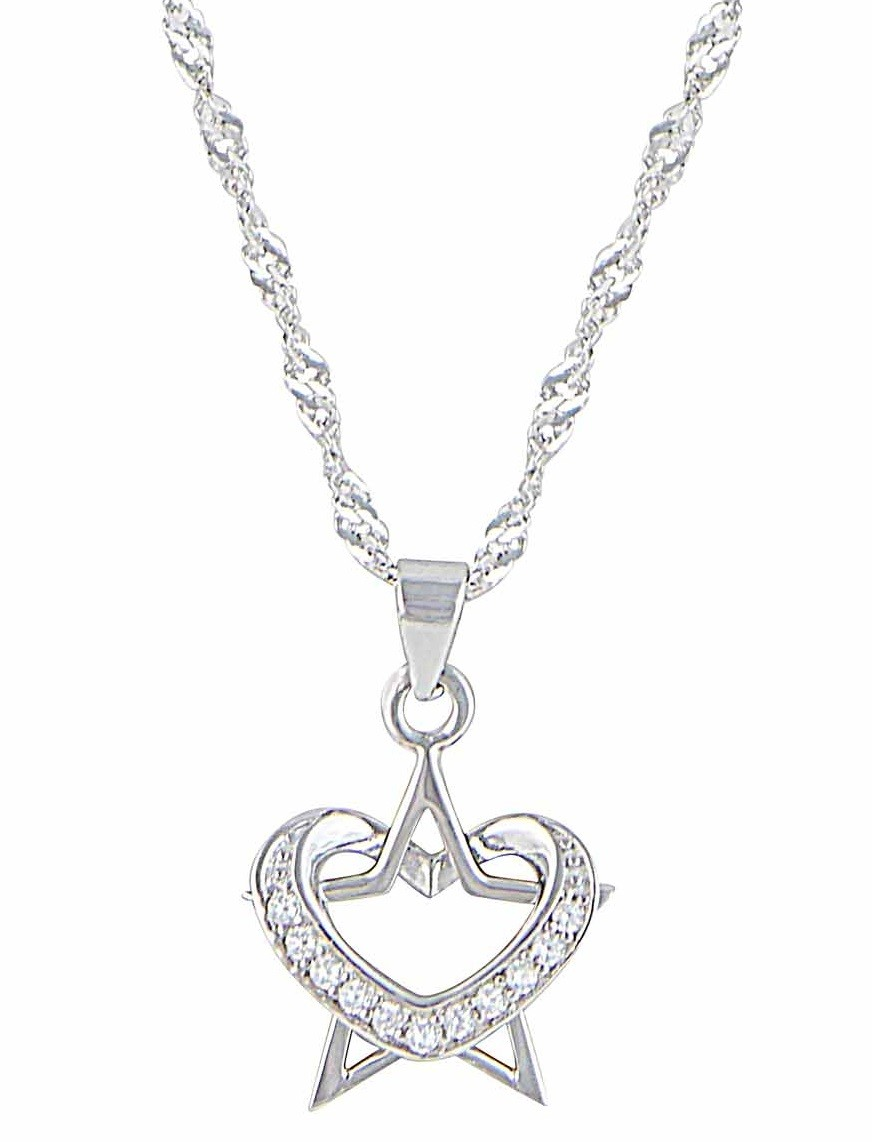 Heart and Star Pendant Necklace
