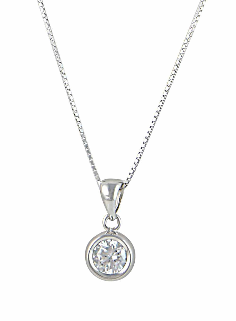 Clear Crystal Circle Pendant
