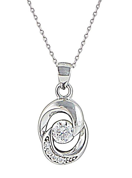 Interlock Open Circle Pendant