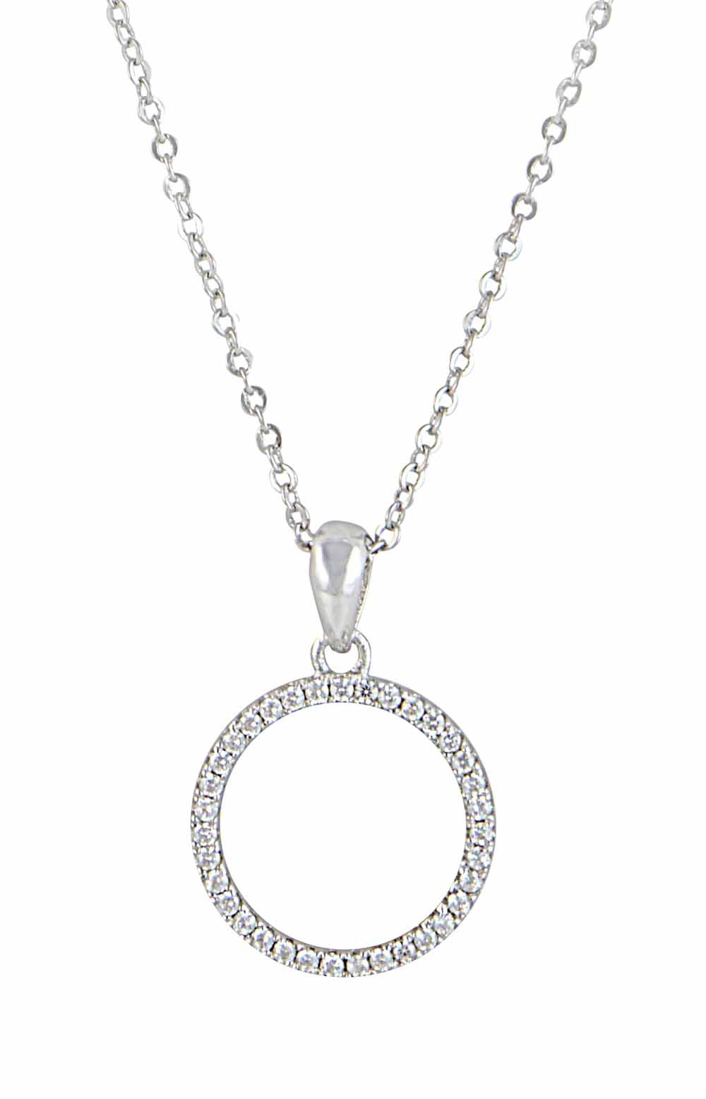 Sparkly Circle Pendant Necklace