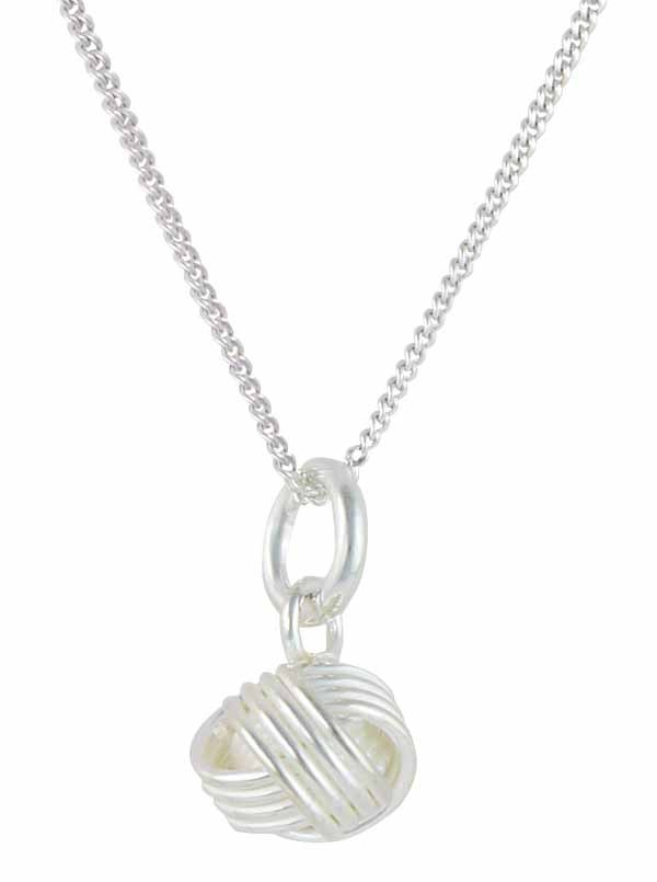 Sterling Silver Knot Pendant Necklace