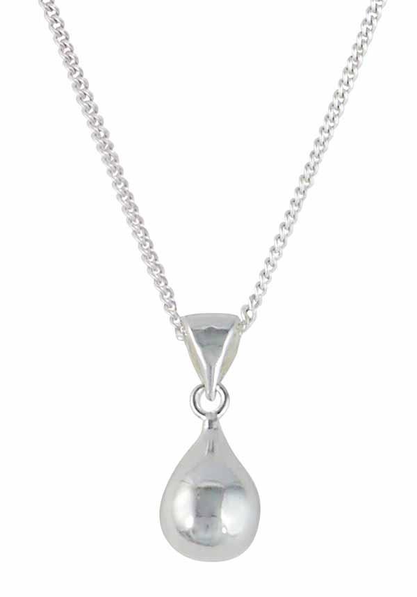 Teardrop Sterling Silver Pendant