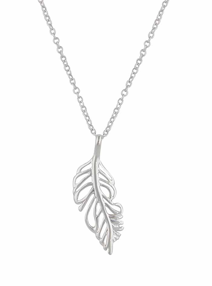 466c324a5caefa Silver Feather pendant necklace. Sterling Silver Feather Pendant Necklace