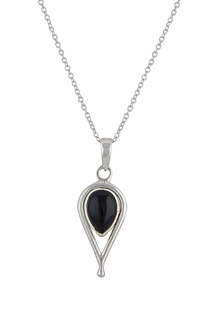 Black onyx jewellery the opal uk teardrop silver black onyx pendant aloadofball Image collections
