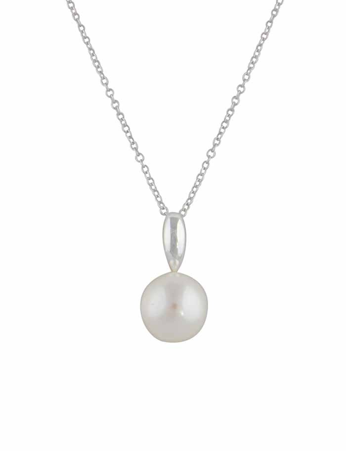 Freshwater Pearl Silver Pendant Necklace